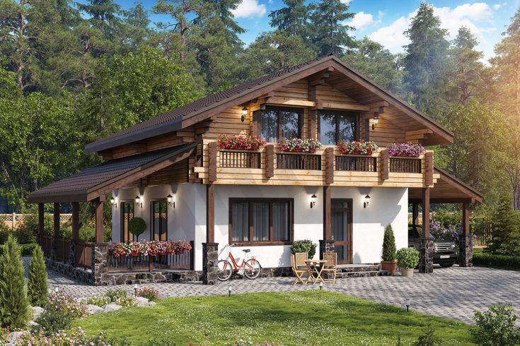 (+80 фото) Проекты домов в стиле шале