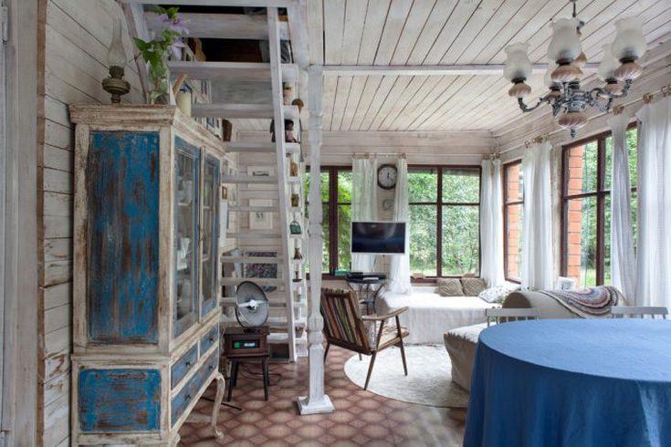 (+40 фото) Интерьер садового домика