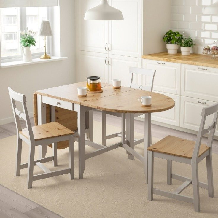 Обеденный стол трансформер для маленькой кухни