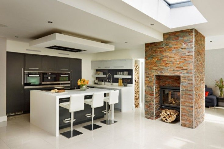 (+95 фото) Красивые потолки на кухне из гипсокартона