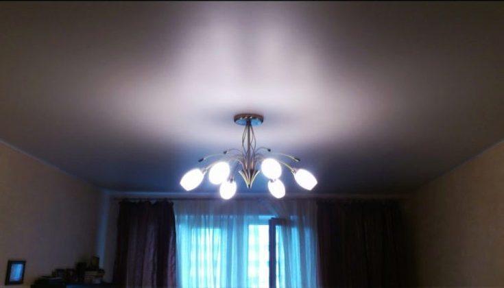 (+65 фото) Матовые натяжные потолки
