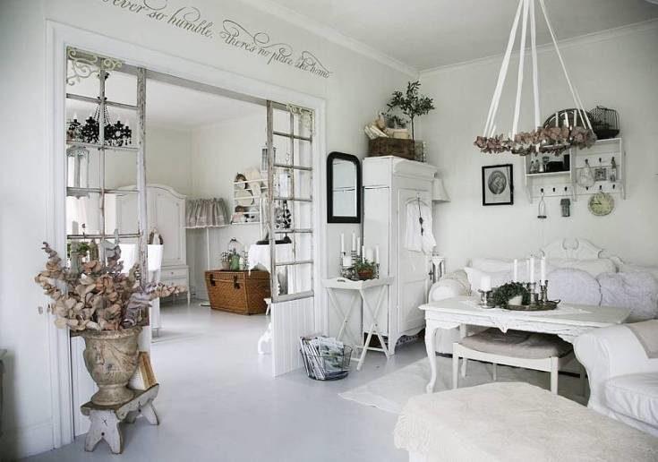 (+55 фото) Стиль шебби шик в интерьере квартиры