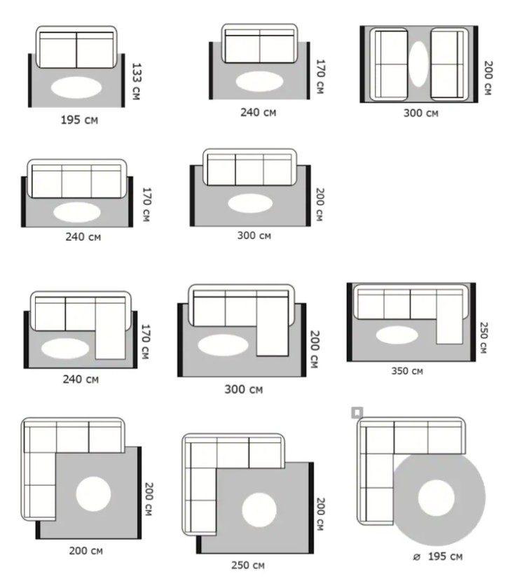 (+50 фото) Безворсовый ковёр Икеа и Леруа в интерьере 50 фото