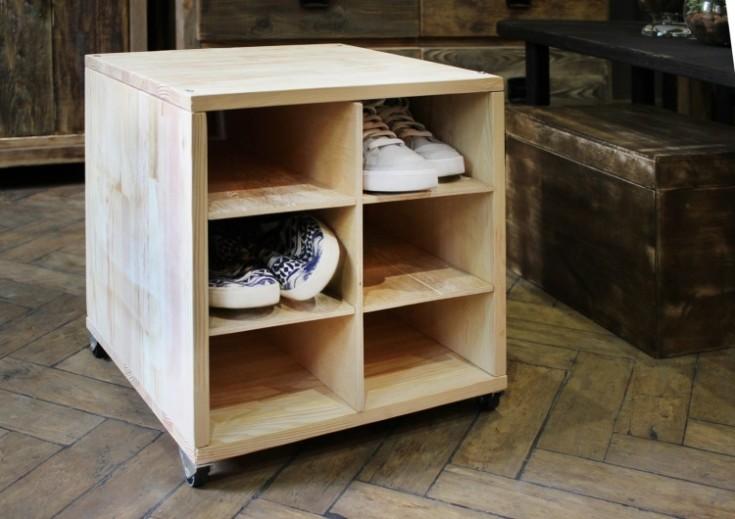 Полка для обуви из дерева своими руками