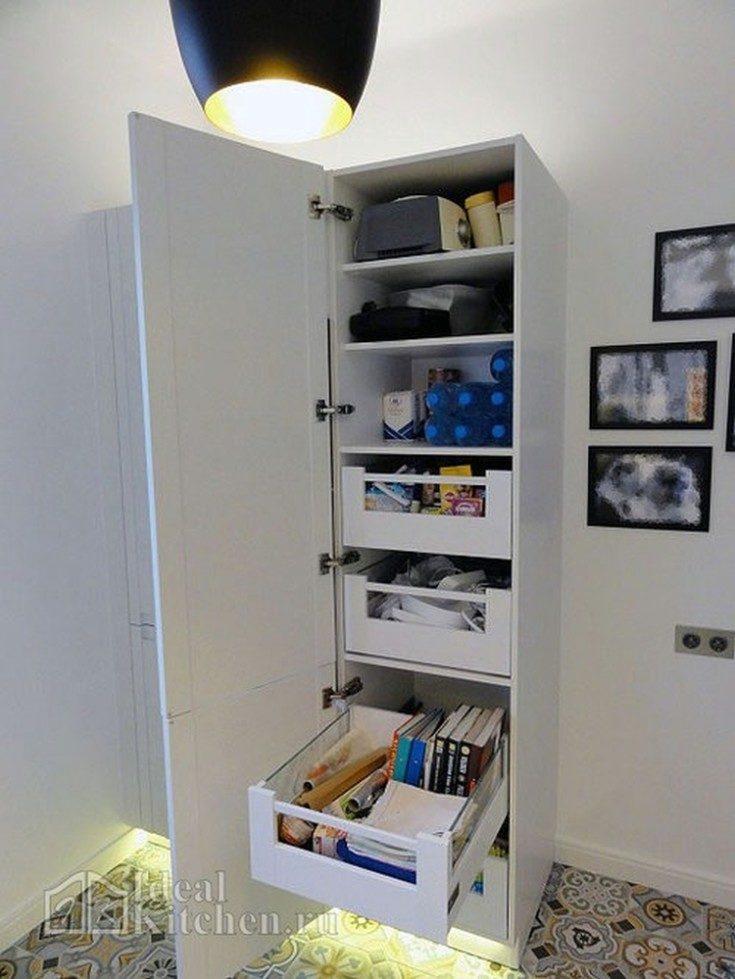 (+60 фото) Интерьер дизайн кухни без верхних навесных шкафов