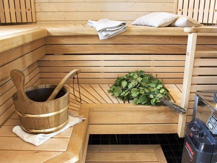 (+80 фото) Дизайн бани внутри