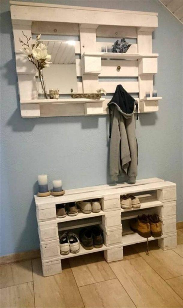 (+60 фото) Полка для обуви из дерева своими руками