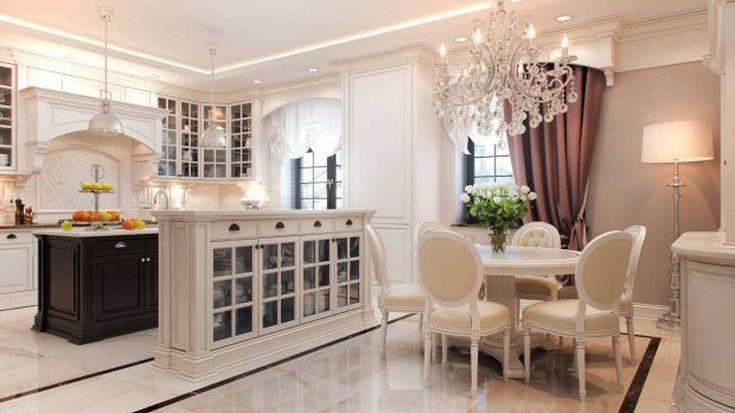 (+75 фото) Интерьер столовой в частном доме фото