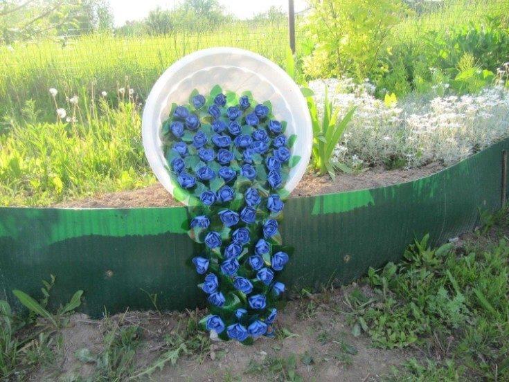 (+76 фото) Необычные украшения для сада своими руками