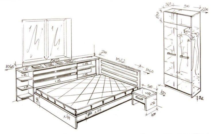 Кровать подиум с ящиками своими руками чертежи
