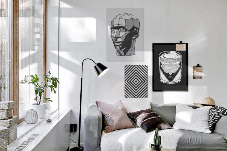 Черно белые постеры для интерьера