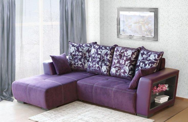 (+76 фото) Фиолетовый диван в интерьере