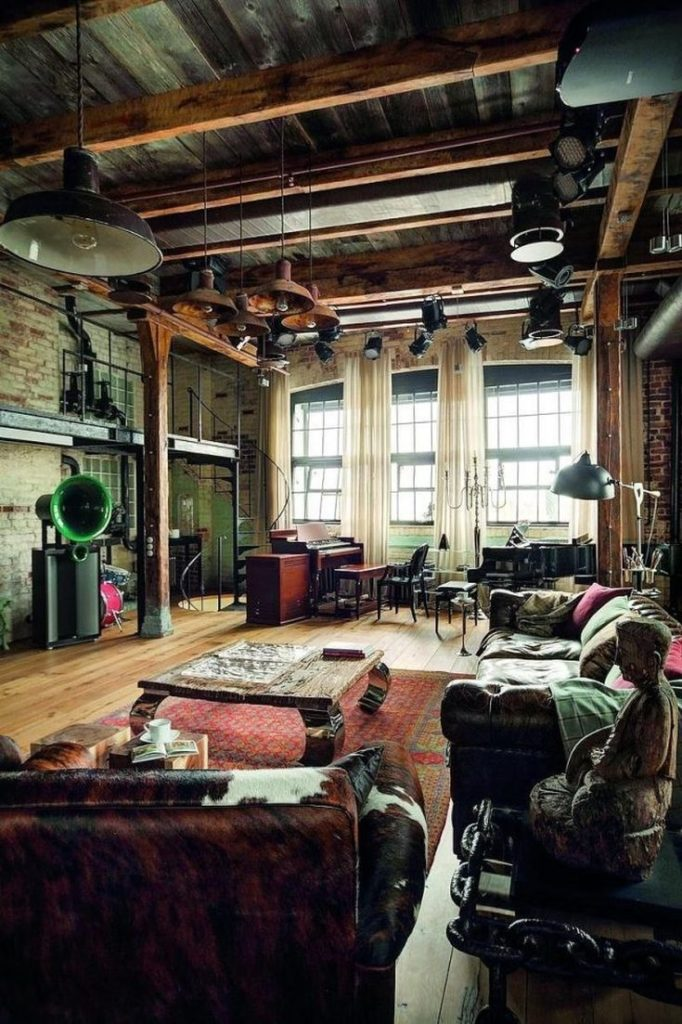 (+65 фото) Черный потолок в интерьере фото