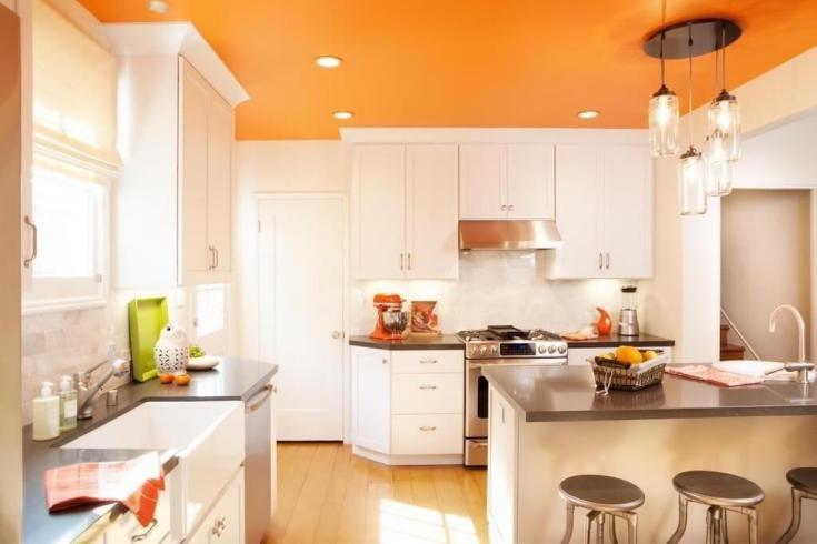 (+70 фото) Оранжевая кухня в интерьере фото
