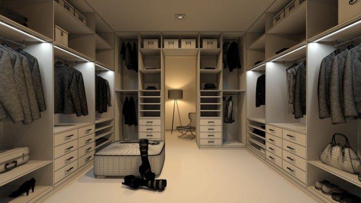 (+64 фото) Дизайн гардеробной комнаты проекты 64 фото