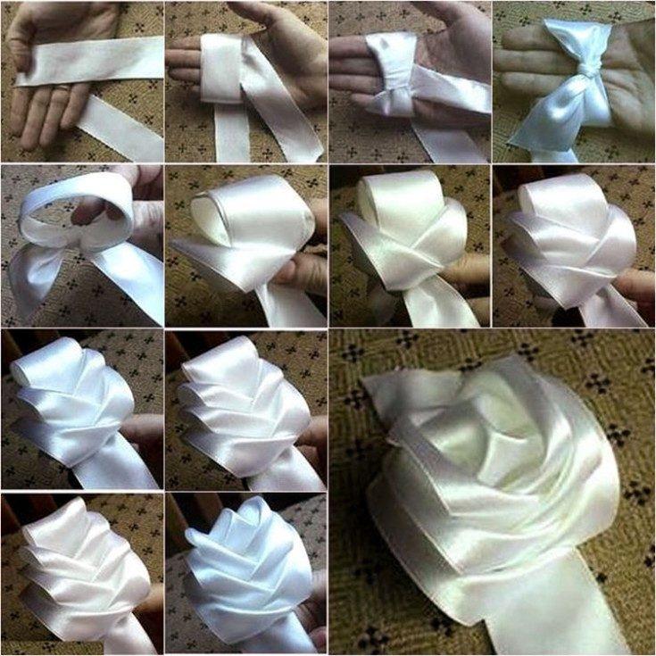 Как сделать бантик своими руками из ленты