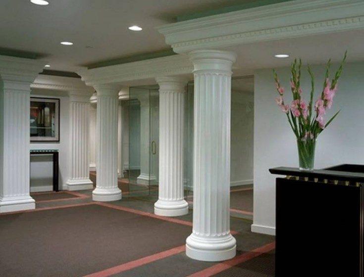 Колонны в интерьере функционал и стили