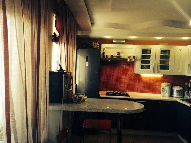 Барные стойки на кухне дизайн фото
