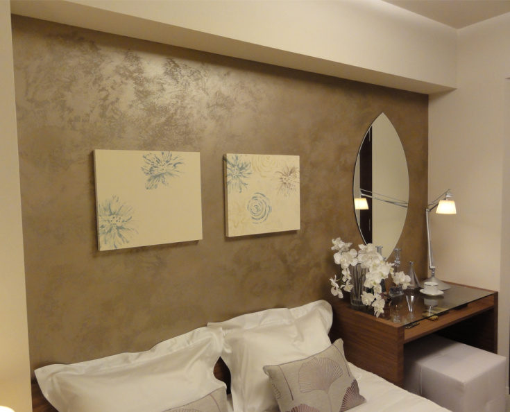 (+60 фото) Краска для стен с эффектом шелка