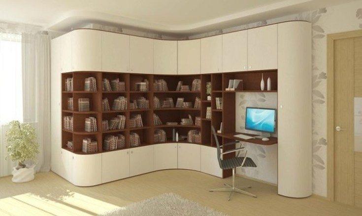 (+56 фото) Книжные шкафы и стеллажи в современном интерьере 56 фото