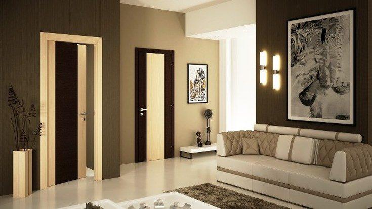 (+45 фото) Светлый пол и темные двери в интерьере фото