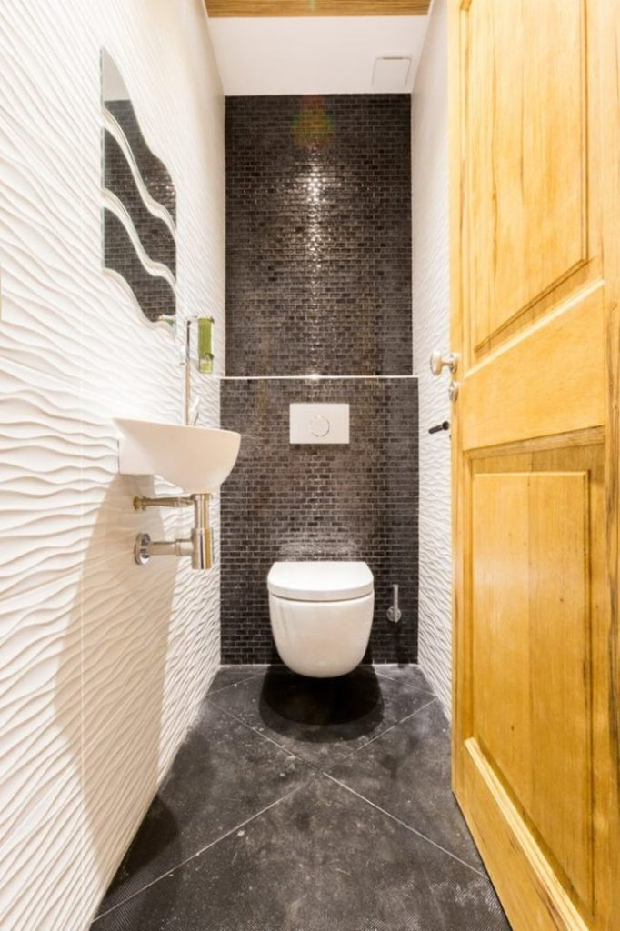 Дизайн маленького туалета 40 фото современные идеи