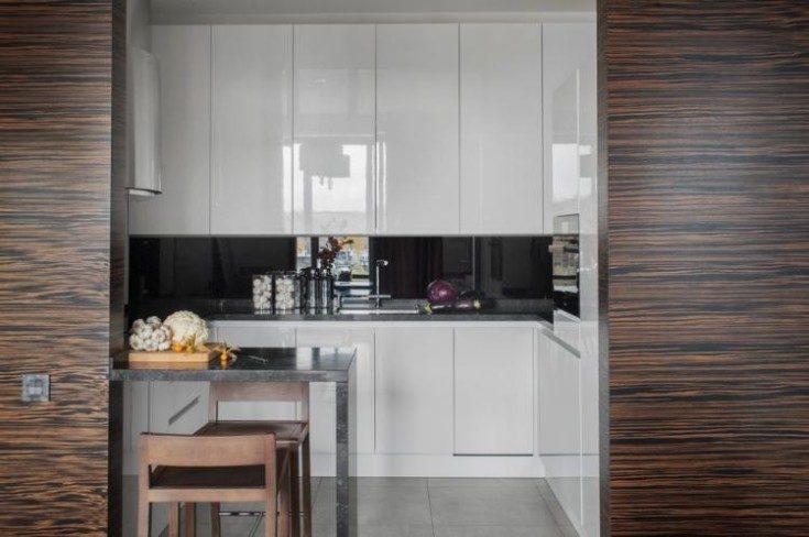 (+75 фото) Дизайн барной стойки для кухни 75 фото