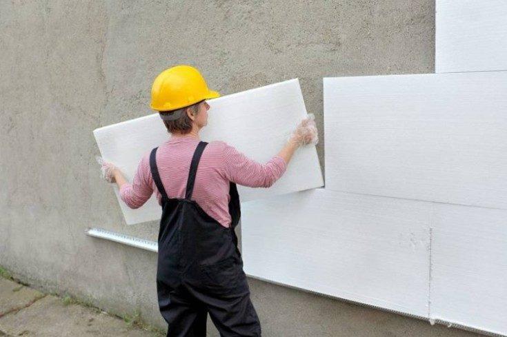 Как утеплить стену дома