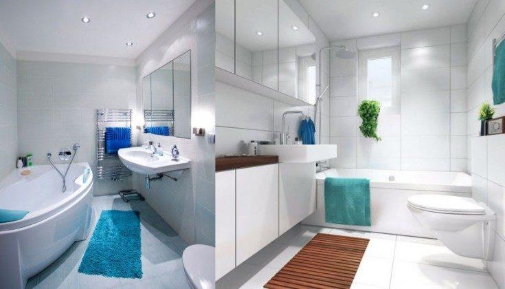 (+138 фото) Дизайн ванной комнаты совмещённой с туалетом