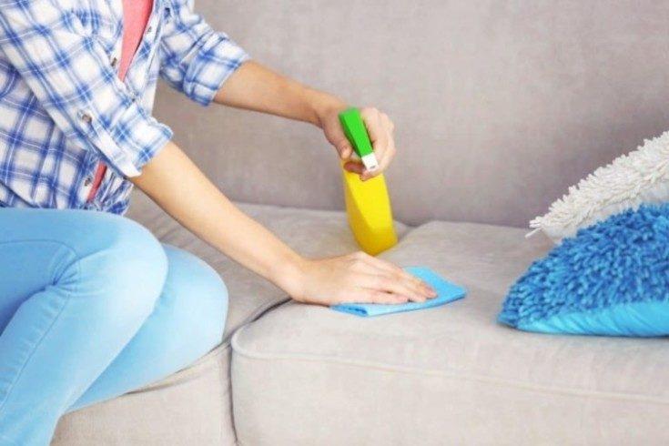 (+20 фото) Чистка мягкой мебели в домашних условиях