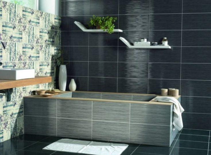Дизайн плитки для ванной из каталога Леруа-Мерлен