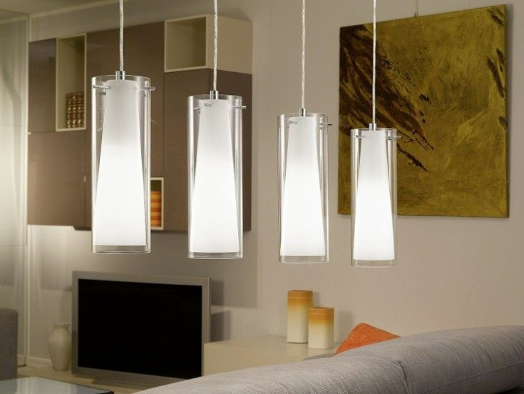 (+75 фото) Подвесные светильники в интерьере 75 фото