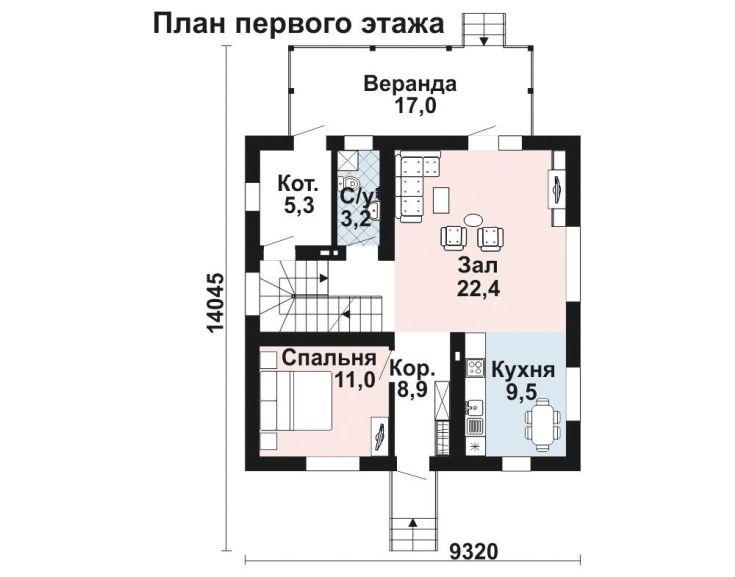(+41 фото) Планировка дома 9 на 9 с мансардой