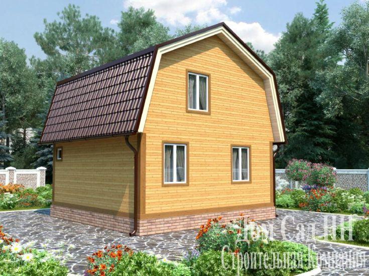 (+40 фото) Планировка дома 6 на 6 с печкой