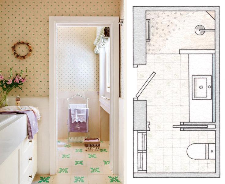 (+50 фото) Планировка санузла с душевой в частном доме