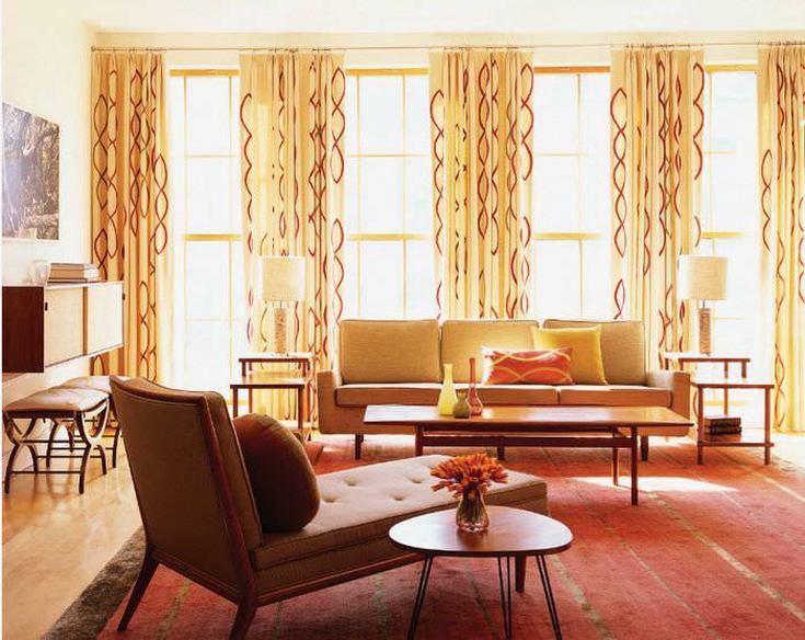 (+40 фото) Интерьер зала с окнами