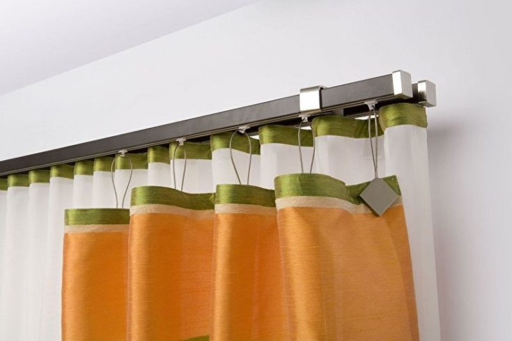 (+62 фото) Карнизы для штор в интерьере разных комнат 62 фото