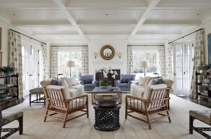 Американский стиль в интерьере загородного дома