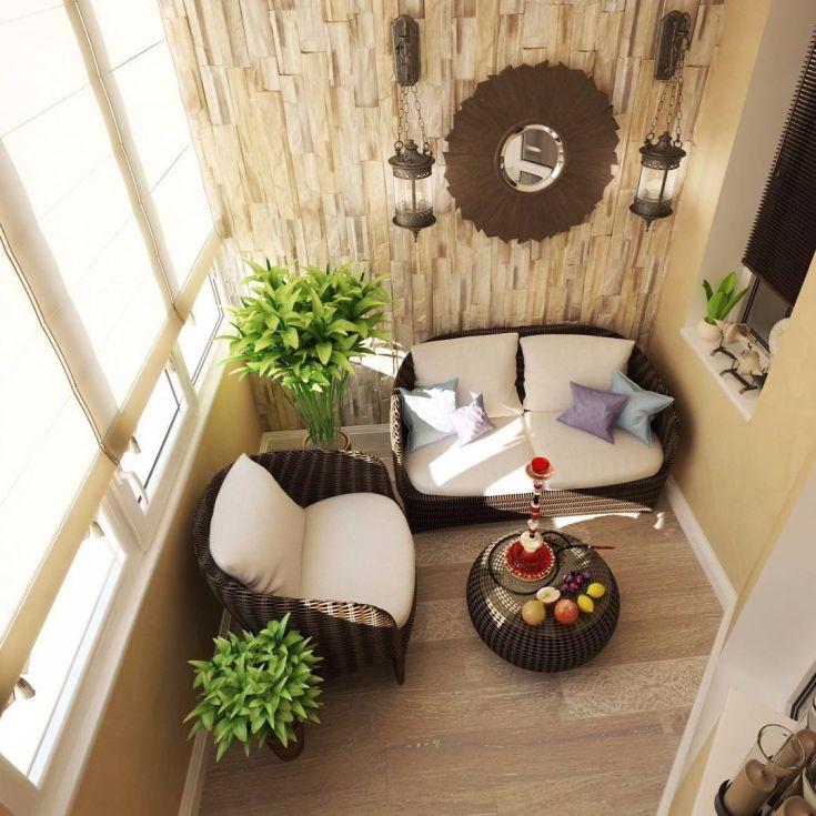 18 фото Дизайн кальянной на балконе