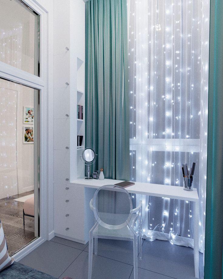 Дизайн туалетного столика на балконе