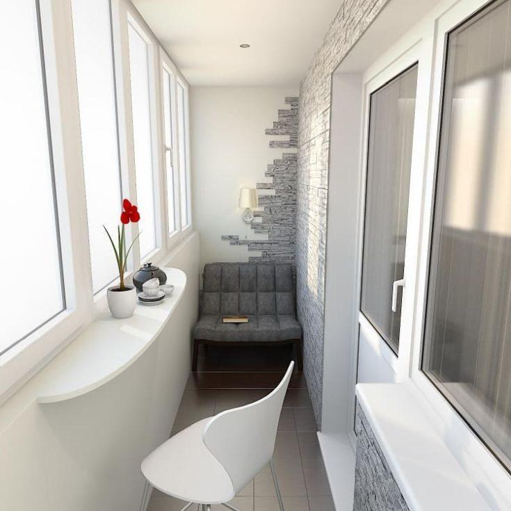30 фото дизайн балкона в стиле хайтек