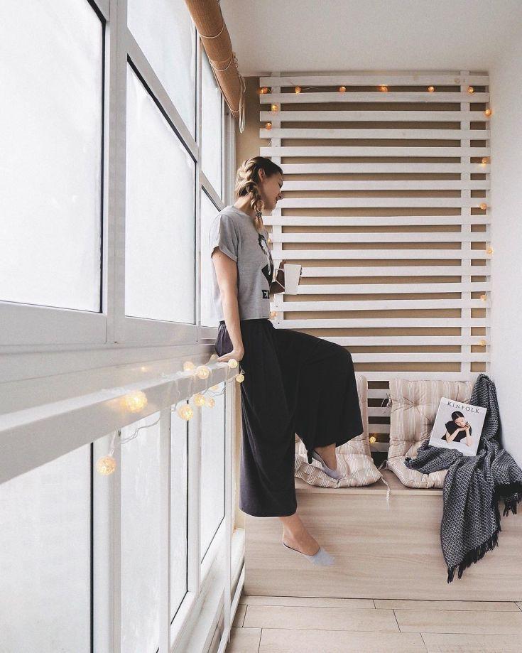 20 фото интерьер балкона 6 метров