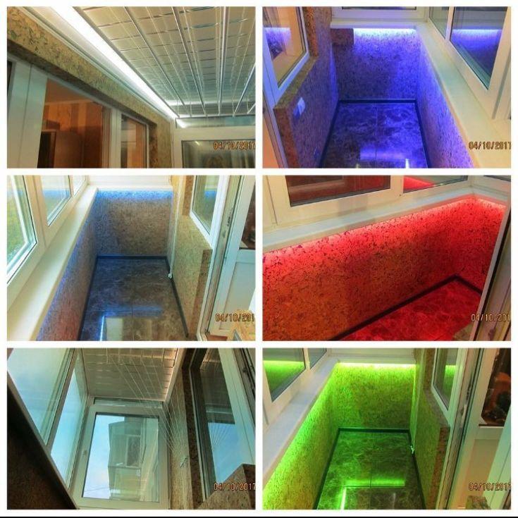 20 фото варианты освещения балкона
