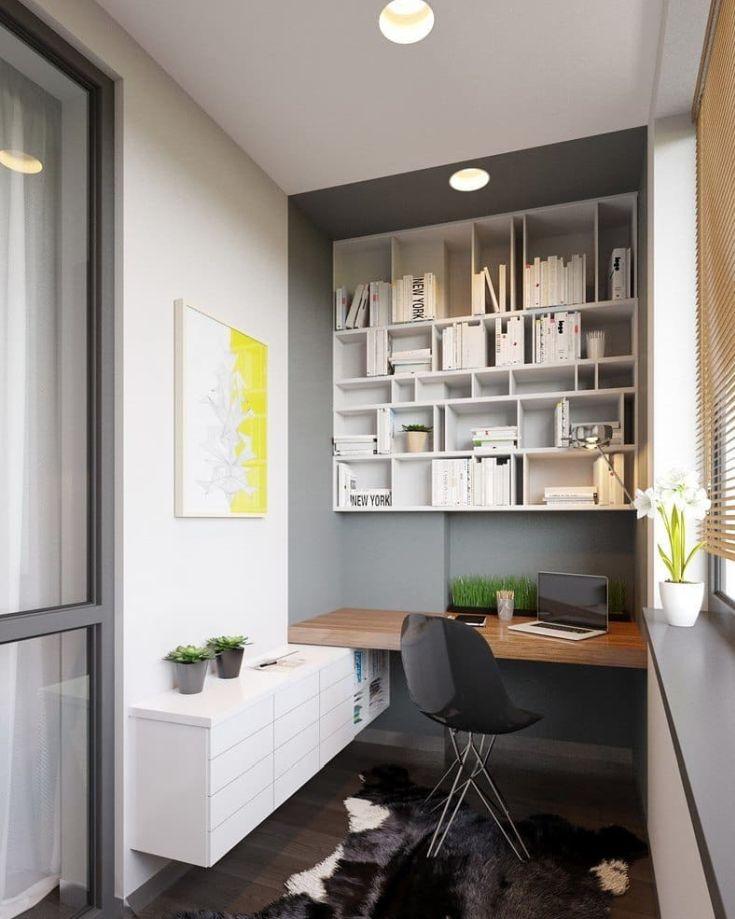 43 фото дизайн кабинета рабочего места на балконе
