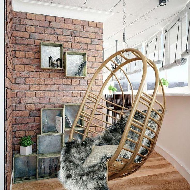 30 фото отделки балкона декоративным кирпичом