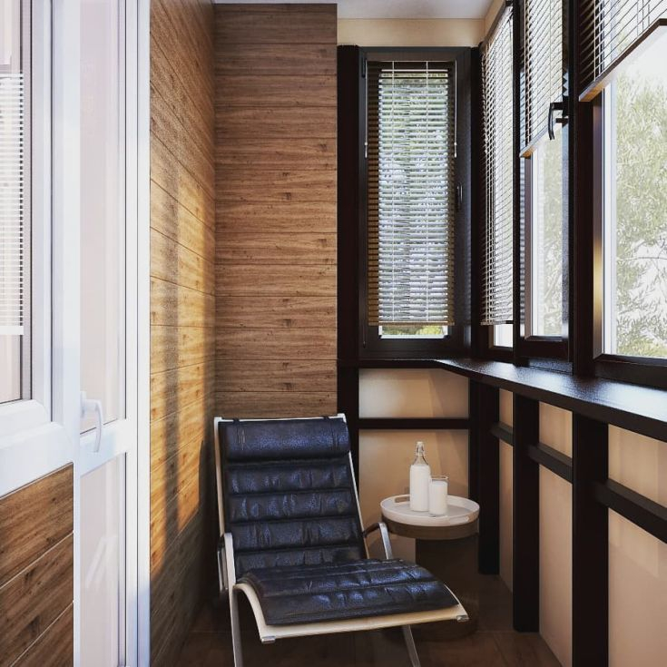 17 фото интерьер балкона 3 метра