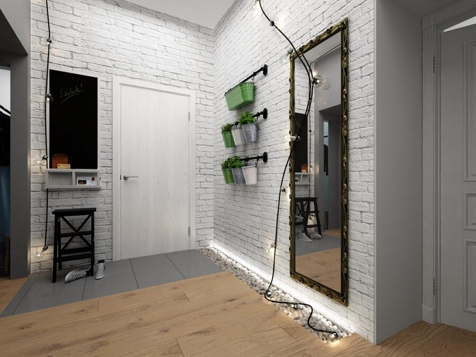 50 фото интерьер прихожей в стиле лофт
