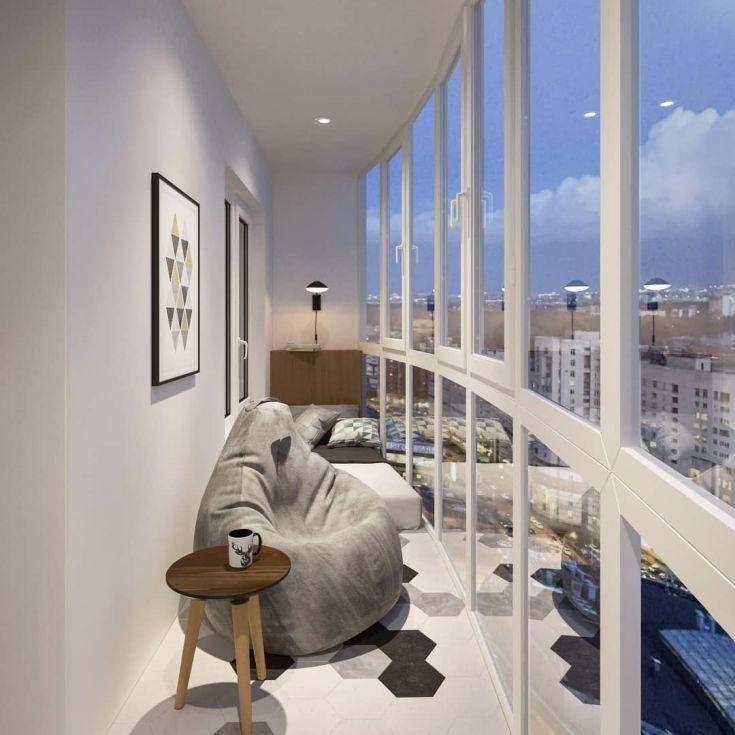 37 фото интерьер балконов с панорамным остеклением