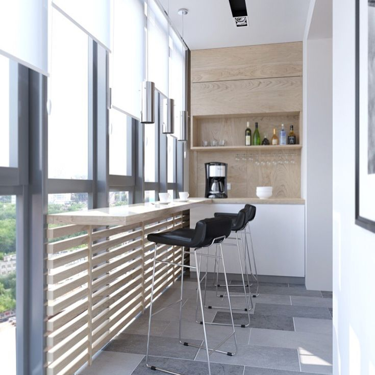 22 фото дизайн балкона с барной стойкой