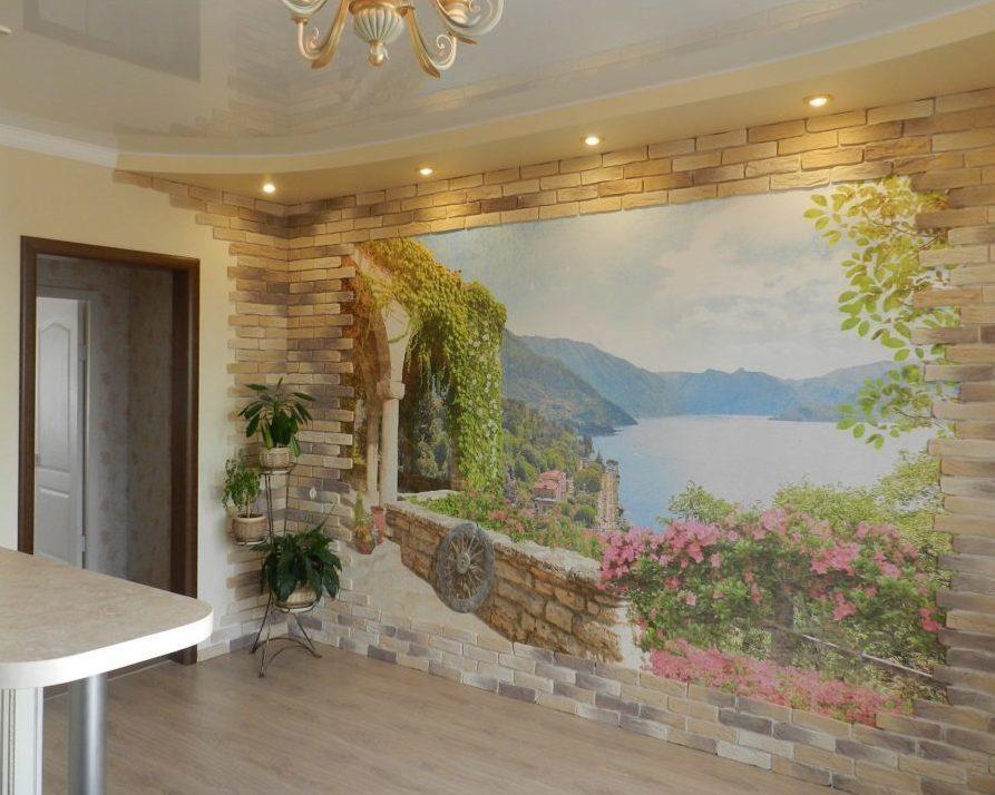 24 фото фрески фотообои на стену в интерьере прихожей